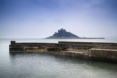 St Michael's Mount Bay Marazion long exposure landscape Stock Photography