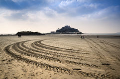 St Michael's Mount Bay Marazion low tide Royalty Free Stock Photography