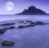 St Michael's Mount Bay Marazion pre-dawn Royalty Free Stock Photo