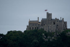 St. Michael's Mount. The castle of St Michael's Mount in Cornwall Stock Photos