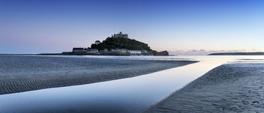 St Michael's Mount in Cornwall. St Michaels Mount in Cornwall the Ccornish counterpart of Mont Saint-Michel in Normandy Royalty Free Stock Photography