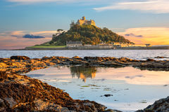 St Michael`s Mount in Cornwall Royalty Free Stock Photo