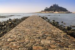 St Michael's Mount from Marazion landscape Cornwall Royalty Free Stock Images