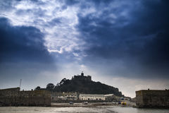 St Michael's Mount from Marazion landscape Cornwall Stock Image