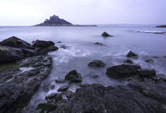 St Michael's Mount from Marazion landscape Cornwall Royalty Free Stock Photo