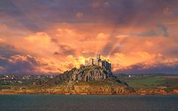 St Michael`s Mount Sunrise. Stock Photos