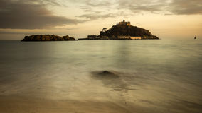 St michael's mount. At sunset in cornwall Royalty Free Stock Photos