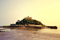 St Michael's Mount in the sunset. Cornwall, UK Royalty Free Stock Photos