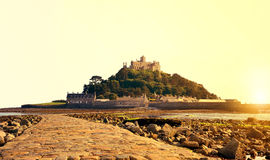 St Michael's Mount in the sunset Stock Image