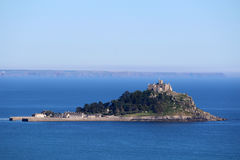 St Michael`s Mount. And the surrounding sea Royalty Free Stock Images