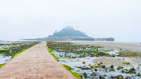 St Michael's Mount during tide Royalty Free Stock Photos