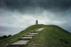 St. Michael's Tower on Glastonbury Tor Stock Photography