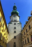 St Michael`s tower in the old city, Bratislava, Slovakia, Europe Stock Photo
