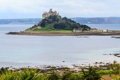 St. Michael´s zet in Cornwall, het UK op royalty-vrije stock afbeelding