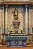 St Michael sopra l'altare della missione San Miguel Fotografia Stock