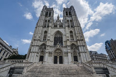 St. Michael and St. Gudula in Brussels, Belgium. Stock Image