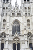 St. Michael and St. Gudula in Brussels, Belgium. Stock Photography