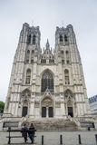 St. Michael and St. Gudula in Brussels, Belgium. Royalty Free Stock Photo