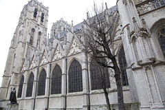 St. Michael and St. Gudula Cathedral in Brussels Stock Photography