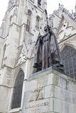 St. Michael and St. Gudula Cathedral in Brussels royalty free stock images