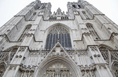 St. Michael and St. Gudula Cathedral in Brussels royalty free stock image