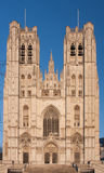 St. Michael and St. Gudula Cathedral in Brussels Stock Photo