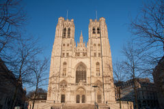 St. Michael and St. Gudula Cathedral in Brussels Stock Images