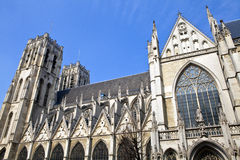 St. Michael and St. Gudula Cathedral in Brussels Royalty Free Stock Photo
