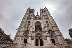 St. Michael and St. Gudula Cathedral in Brussels, Belgium Stock Photography