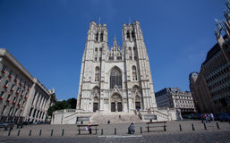 St Michael and St Gudula Cathedral royalty free stock photo