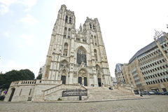 St Michael and St Gudula Cathedral Royalty Free Stock Photography