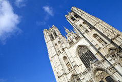 St. Michael and St. Gudula Cathedral in Brussels Stock Photos