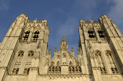 St. Michael and St. Gudula Cathedral in Brussels Royalty Free Stock Photography
