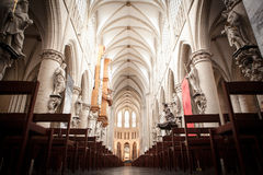 St. Michael and St. Gudula Cathedral Stock Photography