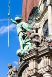 St Michael staty av kyrkan för Hamburg St Michael ` s Royaltyfri Bild