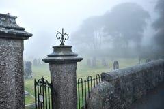 St Michael wszystkie aniołowie brama i cmentarz, Princetown, Dartmoor, Devon, Anglia Fotografia Royalty Free