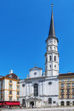 St. Michael's Church  on Michaelerplatz  in Vienna. Stock Photos