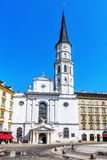 St. Michael's Church  on Michaelerplatz  in Vienna. Royalty Free Stock Photo
