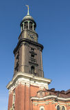 Hamburg's main church St. Michaelis Stock Image
