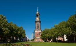 St Michaelis Hamburgo da igreja Fotografia de Stock Royalty Free