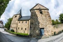 St Michaels教会在富尔达 库存图片