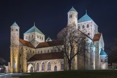 St Michaels教会在希尔德斯海姆 免版税库存照片