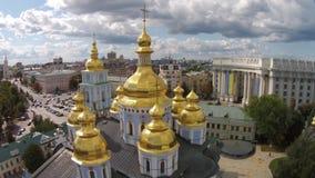 St Michaels金黄半球形的修道院,乌克兰 影视素材