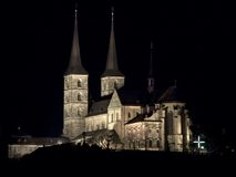 St.michaels church bamberg. Night shot of the st.michaels church in Bamberg stock photography