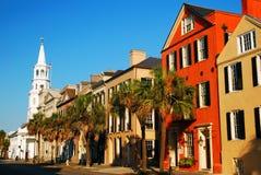 St Michaels Church, Charleston histórica, SC Fotografía de archivo