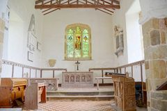St. Michaels Church Interior Burwell, Lincolnshire Gro?britannien stockfotografie