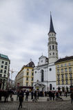 St Michaels Church from Michaelerplatz , Vienna Royalty Free Stock Photography