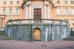 St Michaels or Engineers Castle in St Petersburg, Russia - closeup of north side of St Petersburg landmark Royalty Free Stock Images