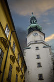 St Michaels Gate Bratislava Stock Foto's