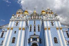 St Michaels Golden Domed Monastery em Kiev, Ucrânia foto de stock royalty free